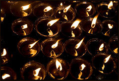 Pray for TIBET, diya - Bodhgaya (Elishams) Tags: india lamp temple protest freetibet diya bihar budhism bodhgaya mahabodhi northindia butterlamp indedunord