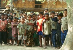 Tough Crowd (Julie A Green) Tags: film 2004 kids laos survey lao salavan taoih minoritypeoples indigeniousminoritypeoples cannoneoselan