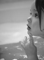 Thought in process (michelle.k.) Tags: blackandwhite bath profile jordan incameramonochrome
