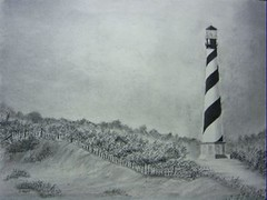 Cape Hatteras Lighthous (adamsart) Tags: lighthouses drawings northcarolina hatteras debbie outerbanks lighhouse capehatteraslighthouse capehatteras graphitedrawings outerbank charcoaldrawings