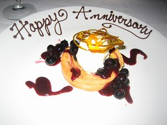Anniversary dessert from One Market