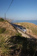 Amtrak in Gaviota State Park (Frank Kehren) Tags: ocean california statepark railroad train canon coast pacific pch amtrak gaviota 1635 canoneos30d ef1635mmf28liiusm