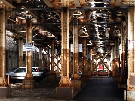 Under the el (Chicago)