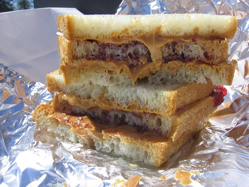 peanut butter and jelly. Triple Decker Peanut Butter