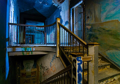 Mural (Noel Kerns) Tags: urban abandoned home night circle texas exploration sherman urbex woodmens