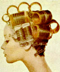 009 - Short Set (Sydney Michelle) Tags: set hair golden hairdo blond blonde 1960s rollers sixties jumbo rolled curlers pincurls