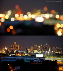 city of blinding light (s o u t h e n) Tags: nightphotography two skyline night lights nikon diptych downtown skyscrapers nightshot bokeh ryan michigan detroit outoffocus d200 ric unfocused 2008 detroitmichigan downtowndetroit motown motorcity detroitskyline nikond200 southen ryansouthen russellindustrialcenter