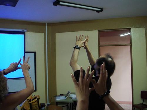 Karl Schaffer- Figuras con las manos- 6. Festival Internacional de Matemática, Palmares, Costa R ica