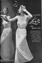1950's fashion (herecomesthesky) Tags: vintage magazine lingerie advertisement elegant 1950sfashion