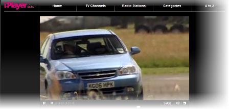 iPlayer video screen
