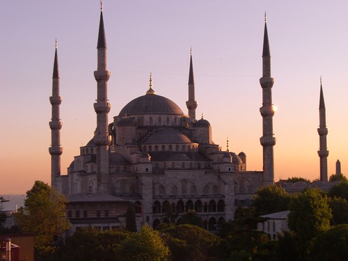 Blue Mosque at sundown