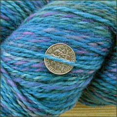 Mermaid handspun, close up