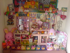 I rearranged the top of my bureau (Rainbow Mermaid) Tags: house home interior decoration stuff decor stoys rainbowmermaid poccessions