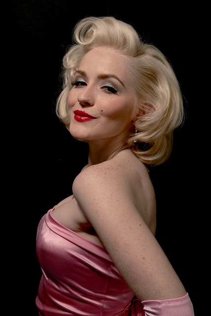 Marilyn Monroe Impersonator Arianna as Lorelei Lee, Diamonds Are A Girl's Best Friend by Marilyn Maybe