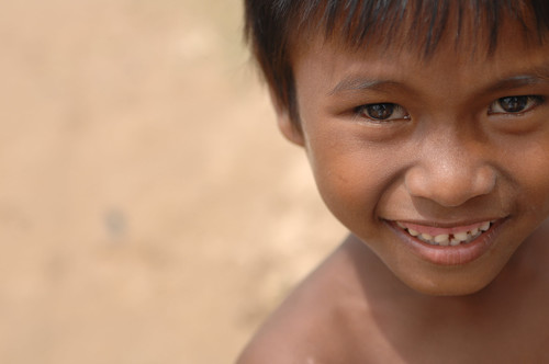 Cambodian children with smile