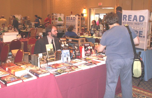 Science Fiction Poetry Association Table at Readercon