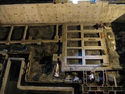 EMPAC foundation and retaining wall