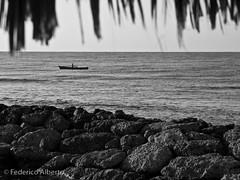 Life Goes On (Federico Alberto) Tags: sea blackandwhite bw blancoynegro boat mar fisherman rocks dominicanrepublic olympus e3 nophotoshop rocas republicadominicana pescador bote repblicadominicana juandolio rpubliquedominicaine nohdr lifebeautiful sanpedrodemacors olympuse3 thebestofday gnneniyisi clubhemingway fickrlovers