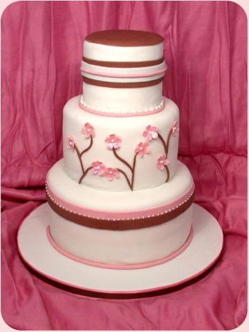 2694195613 fd59665f5c o d Baú de idéias: Bolo de casamento rosa e marrom I