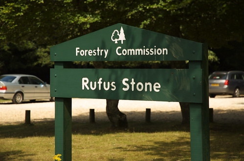 Rufus Stone car park sign