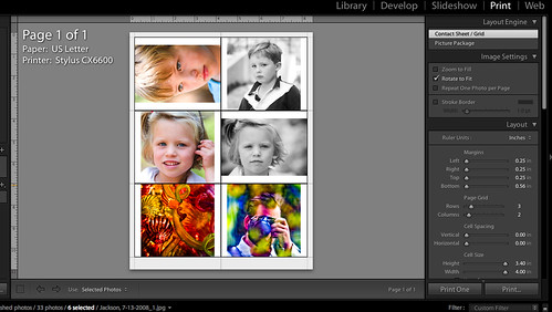 Lightroom 2.0 Better Printing Options