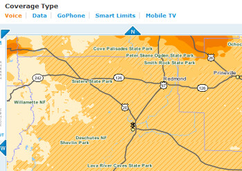 ATT Has Differing Coverage Areas For PrePaid Vs Contract - Go phone coverage map