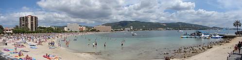 Vista panorâmica da Praia de Palmanova