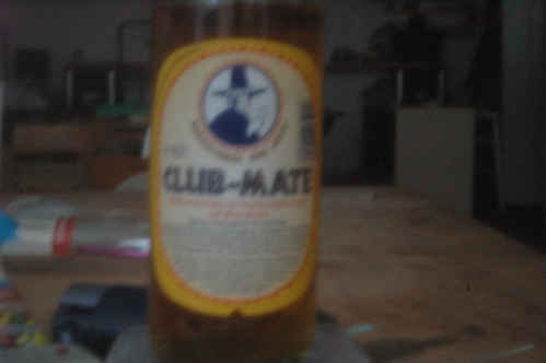 pinhole image of Club-Mate bottle