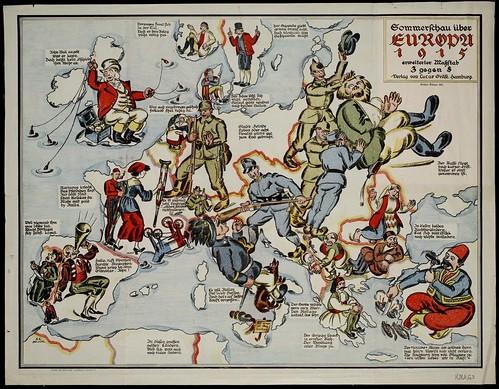Sommerschau über Europa 1915