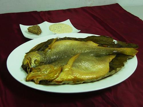 荷葉燻黃魚