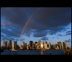 I  [Rainbow] NY (Nrbelex) Tags: statepark park nyc newyorkcity sky cloud ny newyork reflection building water rain weather skyline clouds canon buildings river landscape boats island boat 2470mml newjersey rainbow jerseycity downtown cityscape manhattan worldtradecenter shoreline nj shore hudsonriver wtc hudson gothamist dslr groundzero gawker iny libertystatepark 2470mm newyorkharbor downtownmanhatten jerseycitynj newyorkcityskyline 2470mmf28 xti ef2470mm 400d inewyork jerseycitynewjersey nrbelex