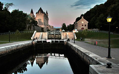 Bytown Locks & Chateau Laurier (ViaMoi) Tags: longexposure ontario canada reflection water night canon photography canal ottawa tripod locks remote chateau laurier rideau chateaulaurier bytown supershot 5starhotel bej 40d anawesomeshot colorphotoaward viamoi goldstaraward
