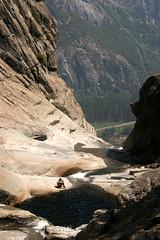 YosemiteFallsTop_Pool2 (Andrew Tipton) Tags: california park camping mountains andy nature pool danger swimming swim naked nude outdoors climb waterfall woods hiking andrew hike adventure yosemite topless wilderness bandana skinnydipping tipton trentjones andrewtipton