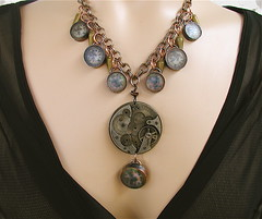 Frozen in Time Necklace for the SteamTeam contest (MadArtjewelry) Tags: steampunk frozenintime madartjewelry steamteam steamteamcontest