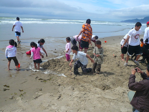 Building the moat for the sand castle