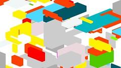 (lennyjpg) Tags: abstract colors opengl grid 3d pattern flat random box perspective shapes overlay lenny cube generative boxes form split variation overlap shading subdivision lennyjpg leanderherzog wwwleanderherzogch
