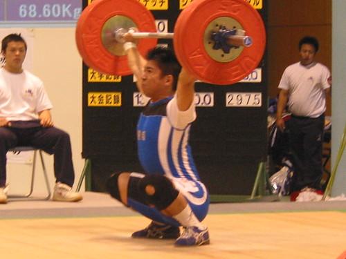 【2003静岡国体】 水上選手・スナッチ125kg