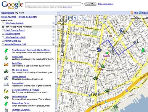 Google Map - 100K Walks Fishtown