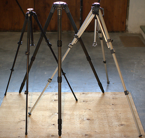 Tentatively Technical Testing of Three Tall Tripods
