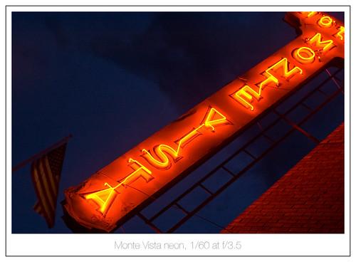 Monte Vista neon