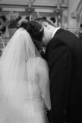 First Kiss (rcesnr) Tags: wedding love church groom bride kiss married joy marriage husband romance wife newlywed vows firstkiss mrandmrs thebigday