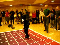 Live-Tetris at Ropecon 2008 (Suviko) Tags: espoo suomi finland ninja mat grip 2008 tetris matto ropecon dipoli livetetris tetrismatto