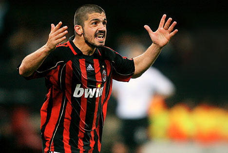 gattuso encouraging his mates