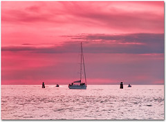 Pink, it's my new obsession (Martjusha) Tags: pink light sunset sea sky italy costa colour nature coast seaside italia colours rosa grado lignano friuli adriatico udine jesolo cherryontop lignanosabbiadoro lignanopineta colourartaward