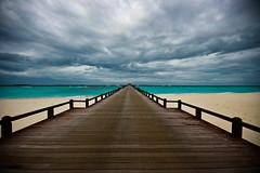 Arrival Jetty (edwardkb) Tags: cloud house water pier honeymoon indianocean bluesky promenade maldives beachhouse clearwater ruvjet manafaru edwardbarnieh manafarumaldiveshoneymoonbeach