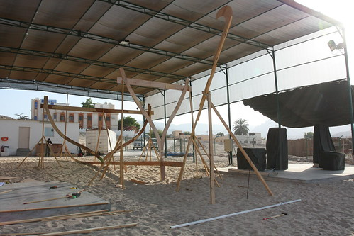 Dhow Frame with mounted time lapse camera