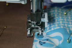 Stitch in the Ditch (amyehodge) Tags: sewing quilting template tracing basting freemotion ditchstitching