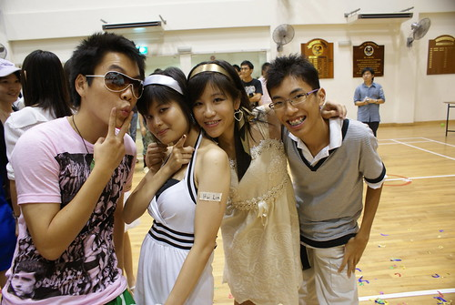 On Merdeka Night - Chongx, Huilin, Bregitt and me :)