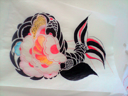 King Yo - japanese Fish Tattoo Flash. King Yo - japanese Fish Tattoo Flash