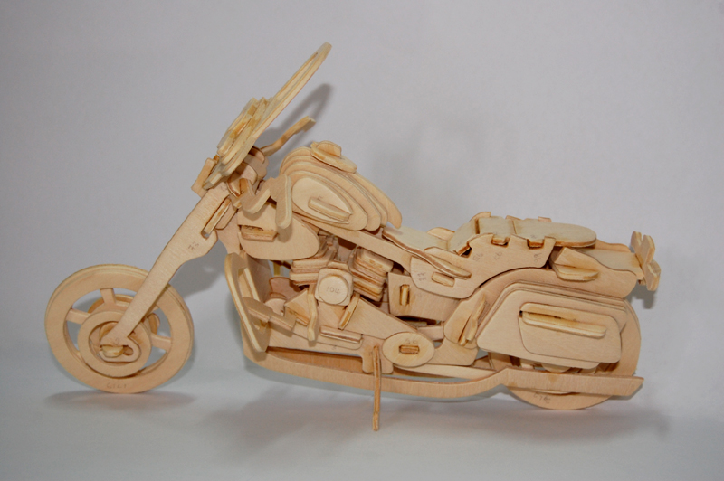 Wooden Model Kit: Harley Davidson